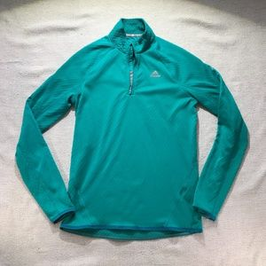 Adidas climawarm 1/2 zip running top size small